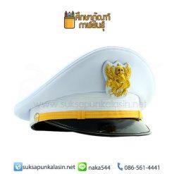 หมวกขาว ข้าราชการชาย หมวกหม้อตาล หมวกปกติขาว