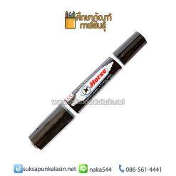 ปากกามาร์คเกอร์ (ปากกาเคมี) 2 หัว ดำ ตราม้า
