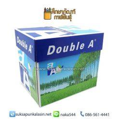 กระดาษถ่ายเอกสาร A4 80 แกรม (แพ็ค5รีม) Double A