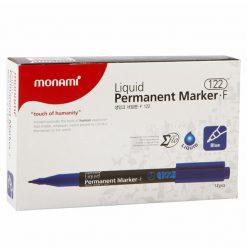 ปากกามาร์คเกอร์ 1.3 มม. น้ำเงิน (แพ็ค12ด้าม) 15282A โมนามิ Liquid F122