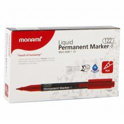 ปากกามาร์คเกอร์ 1.3 มม. แดง (แพ็ค12ด้าม) 15283A โมนามิ Liquid F122