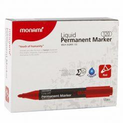 ปากกามาร์คเกอร์ 2.0 มม. แดง (แพ็ค12ด้าม) 15183A โมนามิ Liquid 120