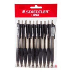 ปากกา Luna Rite Clic 0.7มม.สีดำ10 ด้าม สเต็ดเล่อร์ 4274