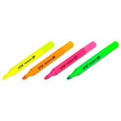ปากกาเน้นข้อความ คละสี แพ็ค4ด้าม ONE HM506