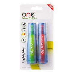 ปากกาเน้นข้อความ เหลือง-ส้ม แพ็ค2ด้าม ONE HY253400