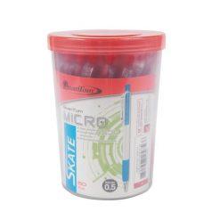 ปากกาลูกลื่น 0.5 มม. (50ด้าม) แดง ควอนตั้ม SKATE MICRO