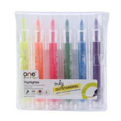 ปากกาเน้นข้อความ คละสี (แพ็ค6ด้าม) ONE G-0517T