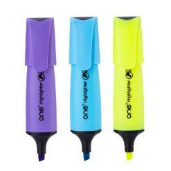 ปากกาเน้นข้อความ คละสี แพ็ค 3 ด้าม ONE AH636-1