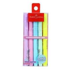 ปากกาเน้นข้อความ คละสี แพ็ค5ด้าม Faber-Castell Slim Pastel