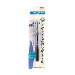 ปากกาลูกลื่น 3in1 0.5มม. คละสี ด้ามนง. ยูนิ SXE3-400-05