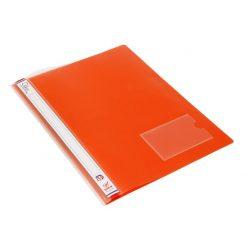 แฟ้มเจาะพลาสติก A4 ส้ม โรบิน 5212
