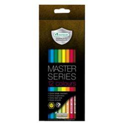 ดินสอสีไม้เกรดพรีเมี่ยมยาว 12 สี มาสเตอร์อาร์ต Series