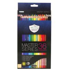 ดินสอสีไม้เกรดพรีเมี่ยมยาว 36 สี มาสเตอร์อาร์ต Series