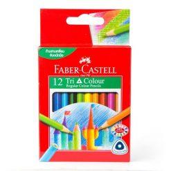 ดินสอสีไม้สั้น 12สี ด้ามสามเหลี่ยม Faber-Castell 115859