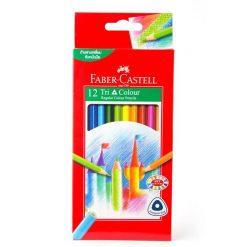 ดินสอสีไม้ 12 สี ด้ามสามเหลี่ยม Faber-Castell 115853