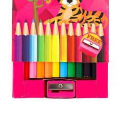 ดินสอสีไม้สั้น 12 สี คิงส์ No.1