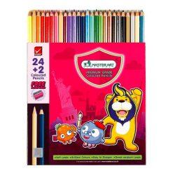 ดินสอสีแท่งยาว  กล่อง 24สี มาสเตอร์อาร์ต