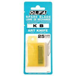 ใบมีดคัตเตอร์ 6 มม. (แพ็ค25ใบ) โอฟ่า KB