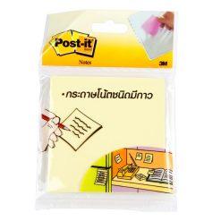 """กระดาษโน๊ต 3x3"""" เหลือง โพสต์-อิท 654"""