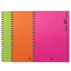 สมุดโน้ตสันลวด A5 70แกรม คละสี (150แผ่น) ตราช้าง WP-103