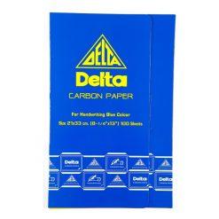 กระดาษคาร์บอน 21x33ซม. สีน้ำเงิน 100 แผ่น Delta