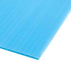 แผ่นพลาสติกลูกฟูก 2 มม. 49x65 ซม. ฟ้า แพลนโก F1-PB1