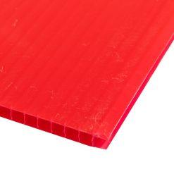 แผ่นพลาสติกลูกฟูก 5 มม. 49x65 ซม. แดง แพลนโก