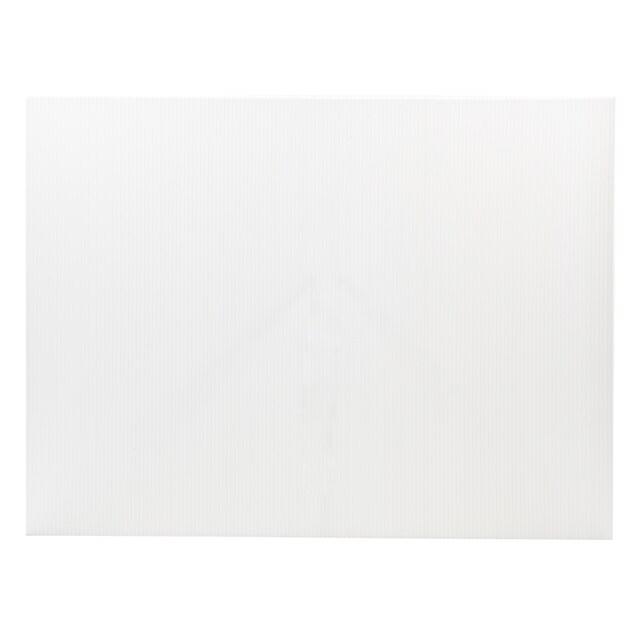 แผ่นพลาสติกลูกฟูก 5 มม. 49x65 ซม. สีขาว แพลนโก