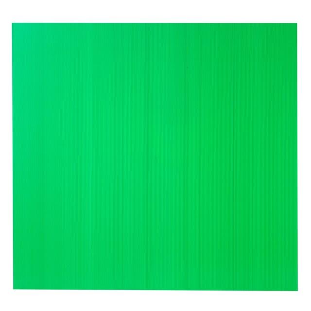 แผ่นพลาสติกลูกฟูก 3 มม. 65x61 ซม. สีเขียว Plango