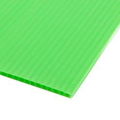 แผ่นพลาสติกลูกฟูก 3 มม. 65x122 ซม. เขียวอ่อน แพลนโก