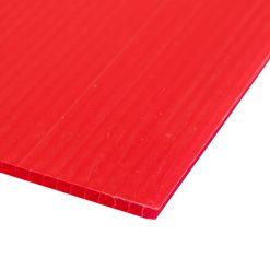 แผ่นพลาสติกลูกฟูก 3 มม. 65x61 ซม. แดง แพลนโก