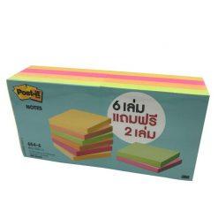 กระดาษโน๊ต 3นิ้วx3นิ้ว คละสี โพสต์-อิท 654-6VAD