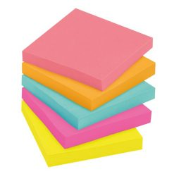 """กระดาษโน้ต นีออนคัลเลอร์ 3x3""""คละสี5เล่ม โพสต์-อิท 654-5PK"""