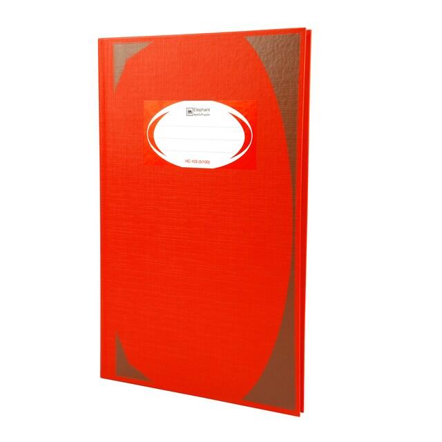 สมุดบันทึกมุมมัน HC-103 70 แกรม แดง ตราช้าง 5/100