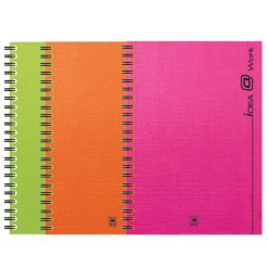 สมุดโน้ตสันลวด A5 70แกรม คละสี (150แผ่น) ตราช้าง WP-102