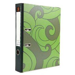 แฟ้มสันกว้าง F4 สัน 2นิ้ว เขียว (6เล่ม) ตราช้าง 125