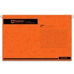 แฟ้มแขวน ส้ม (แพ็ค10เล่ม) ตราช้าง Fluo 927