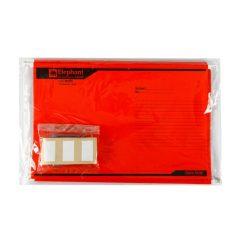 แฟ้มแขวน F4 แดง (10 เล่ม) ตราช้าง 925