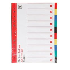 อินเด็กซ์ PP (1-10) 5 สี ตราช้าง 320