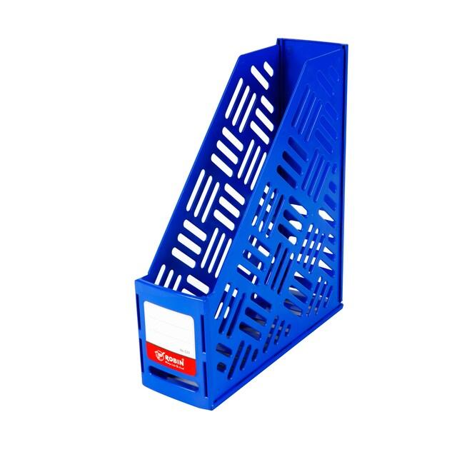 กล่องเอกสารพลาสติก 1 ช่อง น้ำเงิน โรบิน 121