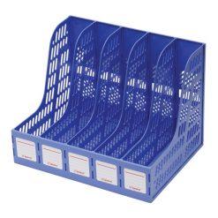 กล่องเอกสารพลาสติก 5 ช่อง น้ำเงิน โรบิน 125