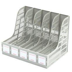 กล่องเอกสารพลาสติก 5 ช่อง เทา โรบิน 125