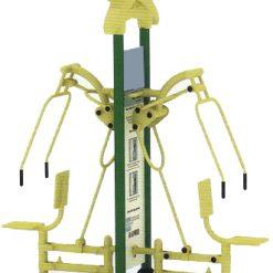 เครื่องออกกำลังกายกลางแจ้ง ฟิตเนสกลางแจ้ง สวนสาธารณะ สถานีผลักบริหารกล้ามแขนคู่